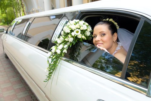 Photo Of Bride Enjoying Wedding Transportation - Armonk Limousine